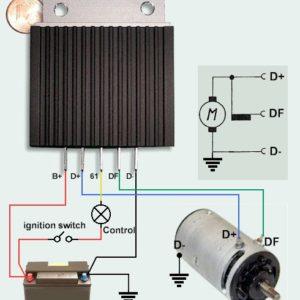 Régulateur T5a Sachse pour dynamo connectée au  D+