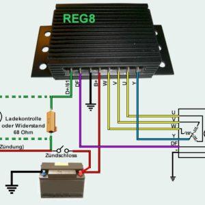 Régulateur T8 Sachse pour alternateur 3 phases Champs magnétique à la masse